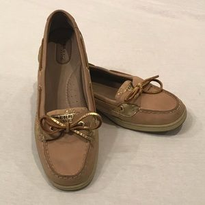 RARE Gold Floral Sperry Top-Sider Angelfish Shoes